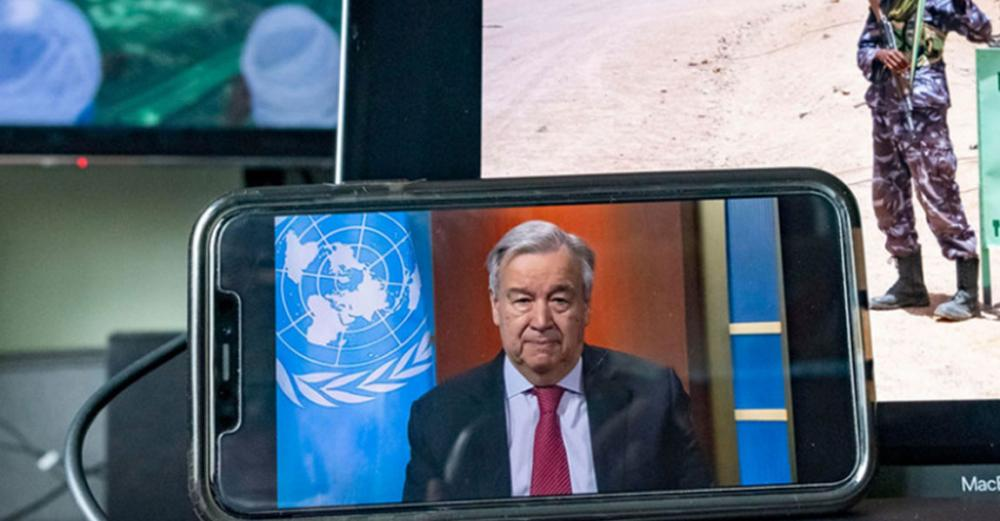 UN chief urges unity in mobilizing 'every ounce of energy' to defeat coronavirus pandemic