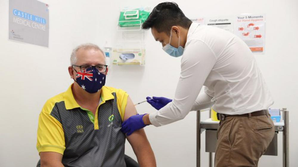 Australian Prime Minister gets vaccinated against COVID19 marking