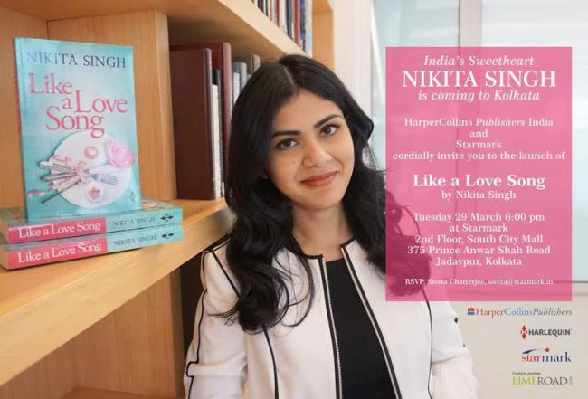 Kolkata: Nikita Singh's novel 'Like a Love Song' to be launched in Starmark next week