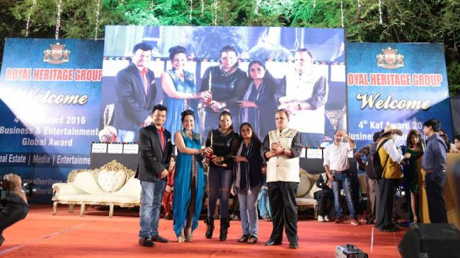 Anuja Kapur scores a hat-trick at the Business and Entertainment Global Award