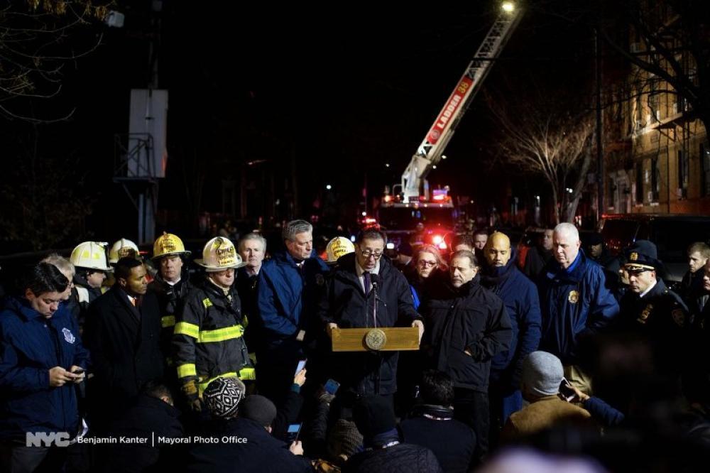 New York: Bronx fire kills at least 12