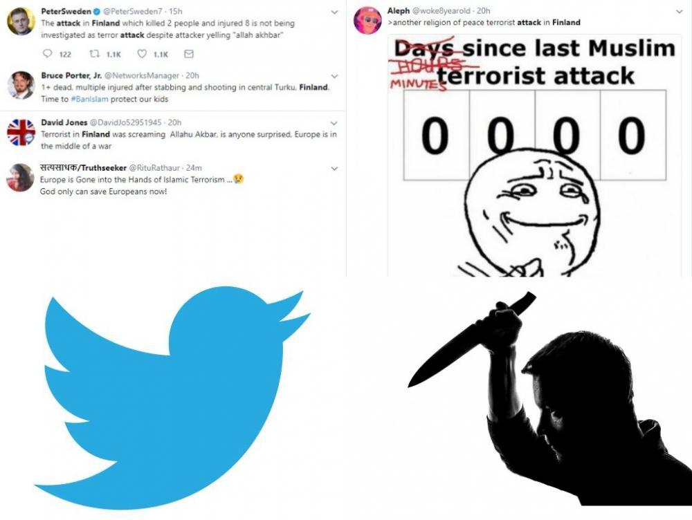 Twitter boils over Finland knife attacker's 'Allahu Akbar' call