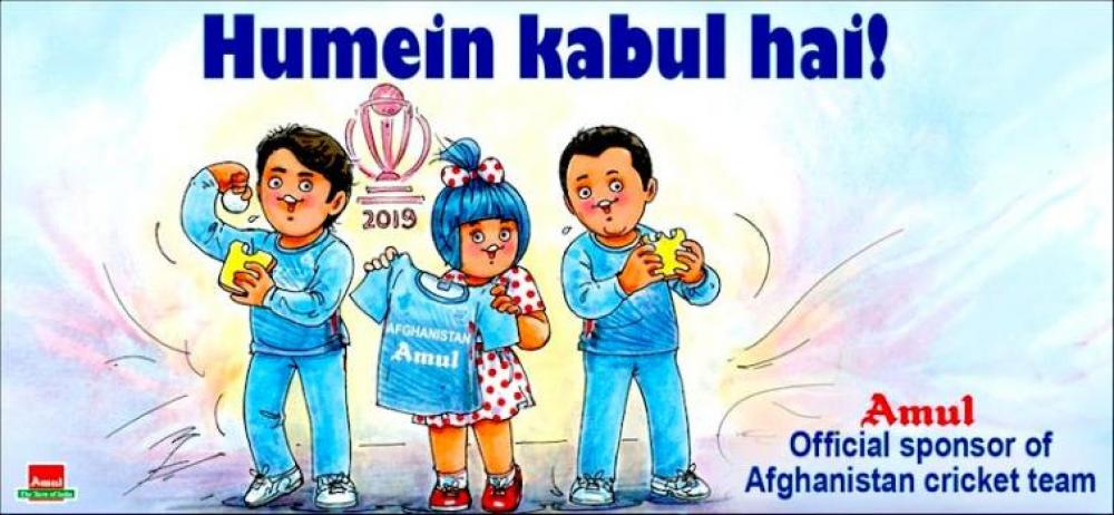 With Amul sponsoring Afghanistan cricket team in the World Cup, India lives a moment of glory