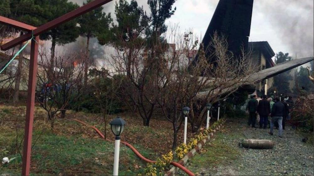Iran: Cargo plane crashes in west Teran, 16 dies