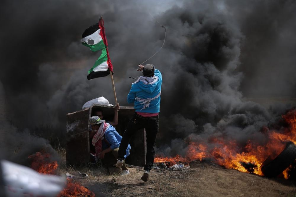 At least 30 Palestinians injured in anti-Israel protest in eastern Gaza