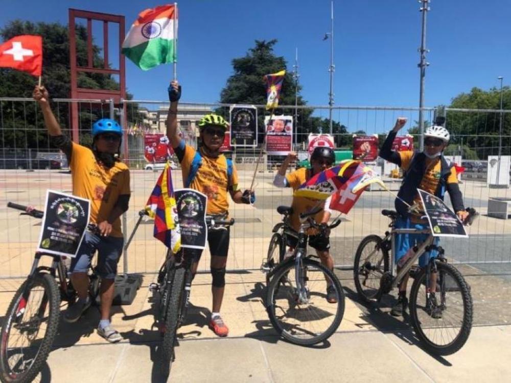 'Communist China terrorist': Tibetan cycle rally against Beijing cheers for India