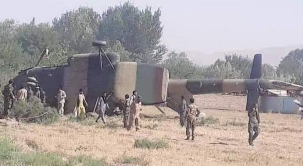 Two killed as AAF helicopter crashes in Nangarhar