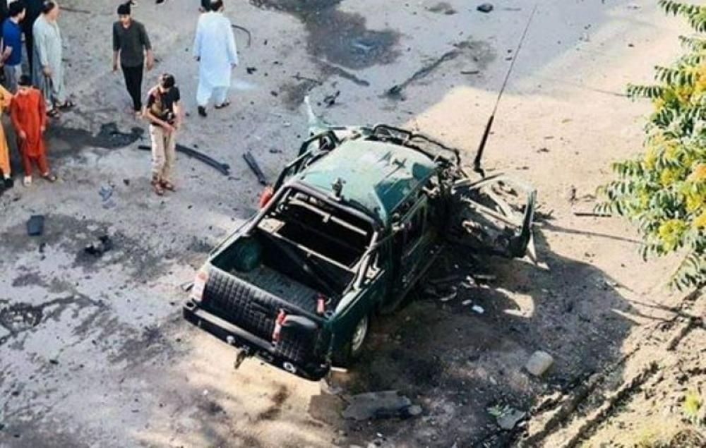Magnetic bomb explosion targets police car, injures two in Kabul