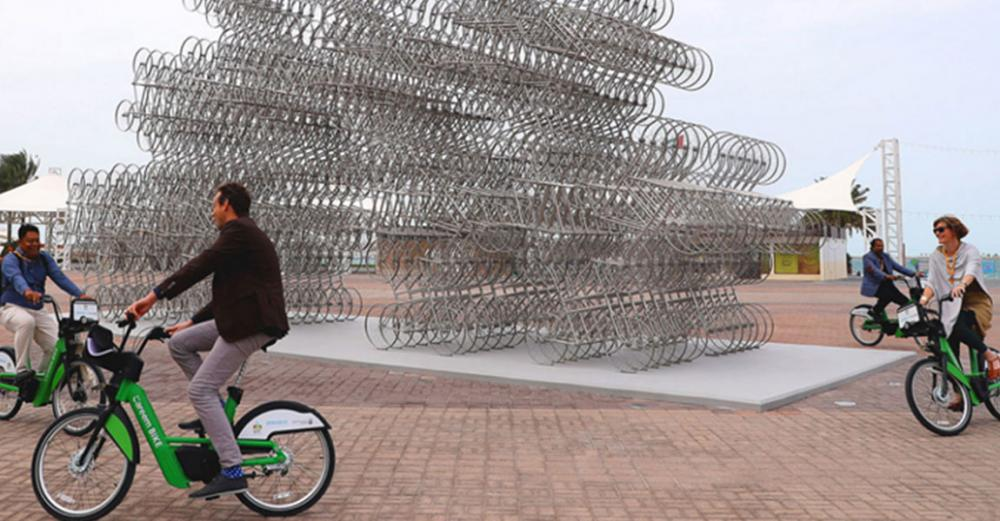 Ai Wei Wei sculpture celebrates pedal power, as Urban Forum continues in Abu Dhabi