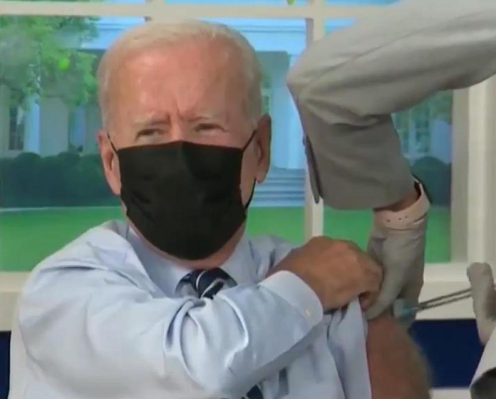 US: President Joe Biden gets COVID-19 booster shot