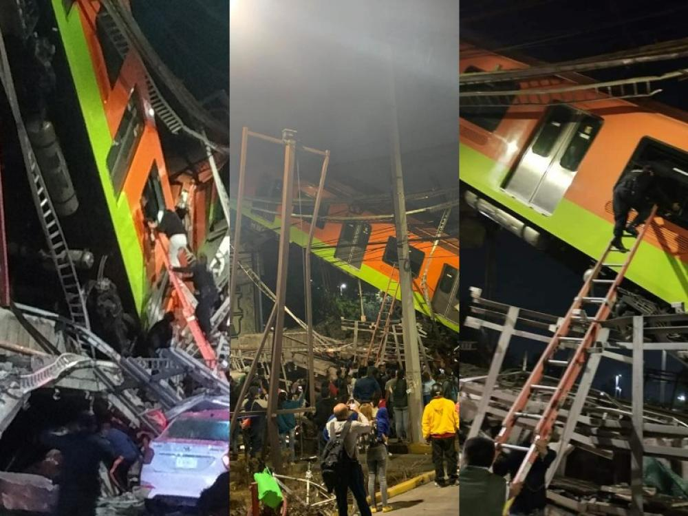 23 dead, over 60 hurt as metro overpass collapses in Mexico City