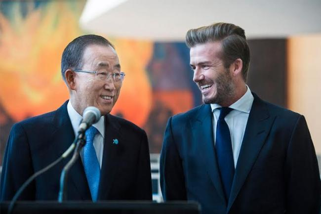 UNICEF and David Beckham unveil digital installation to help bring voices of youth to General Assembly