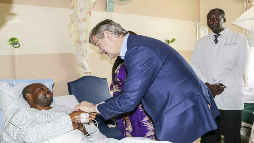 UN peacekeeping chief visits injured Tanzanian 'blue helmets' in DR Congo