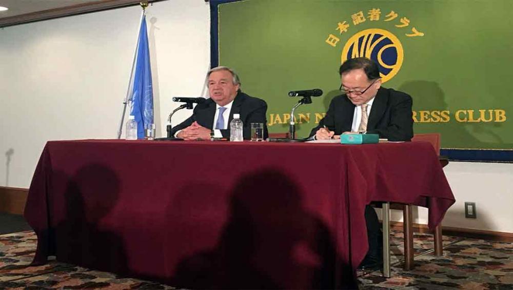 UN chief stresses need to denuclearize Korean Peninsula, avoid 'sleepwalking into war'