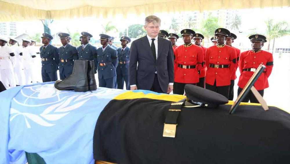 In Tanzania, UN peacekeeping chief pays tribute to 'blue helmets' killed in DR Congo