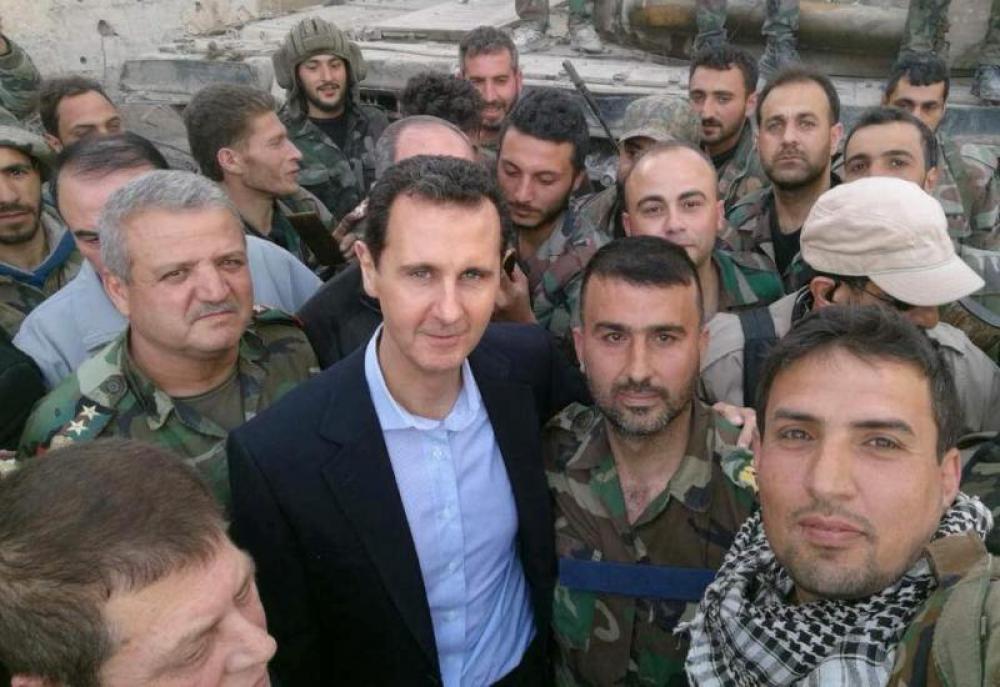 Syrian President Bashar al-Assad visits frontline area in Eastern Ghouta