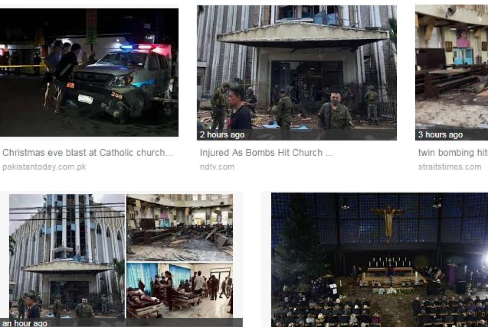 ISIS claims responsibility for Philippines Roman Catholic church blasts
