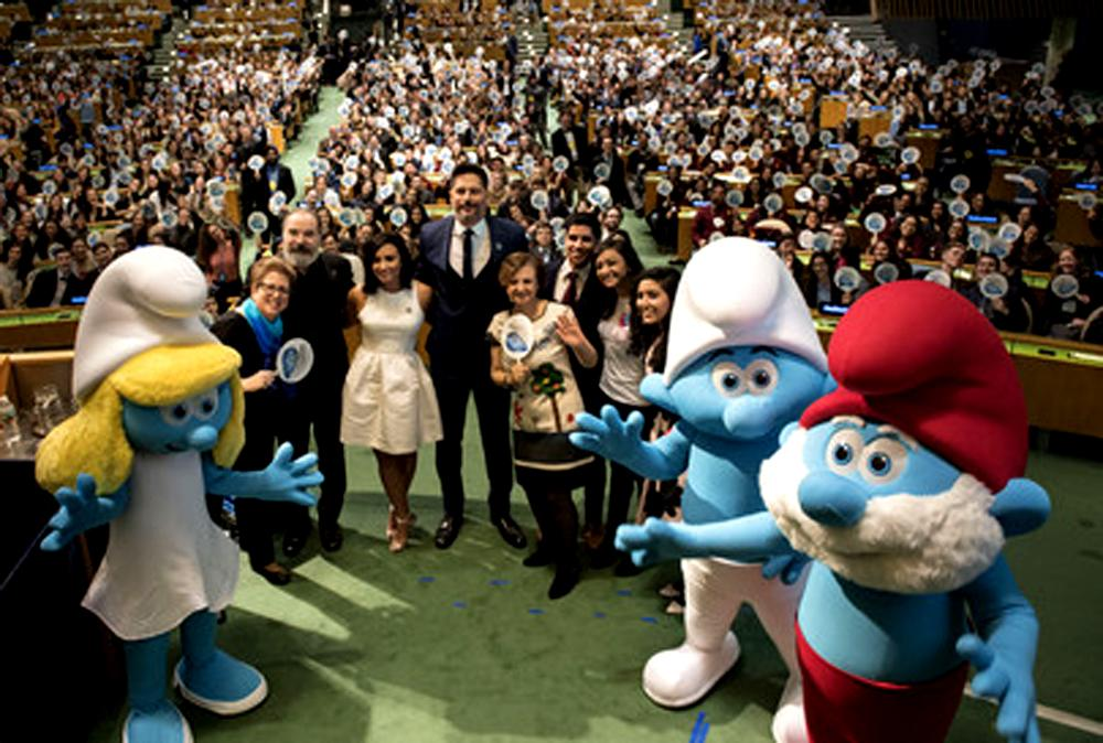 UN and Smurfs team up for Sustainable Development Goals