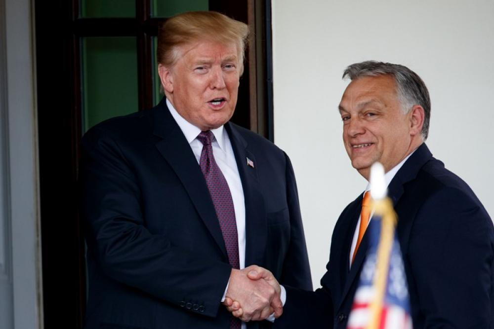 Donald Trump welcomes Hungarian Prime Minister Viktor Orban at White House