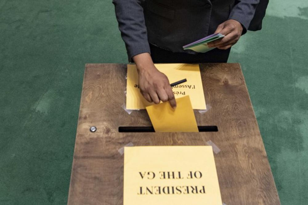 Voting at United Nations General Assembly in New York