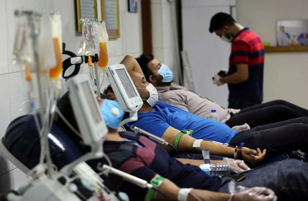 Plasma donation in Baghdad