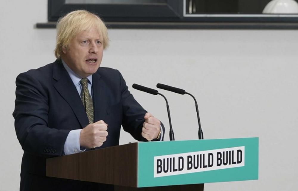 Boris Johnson delivers speech in Dudley