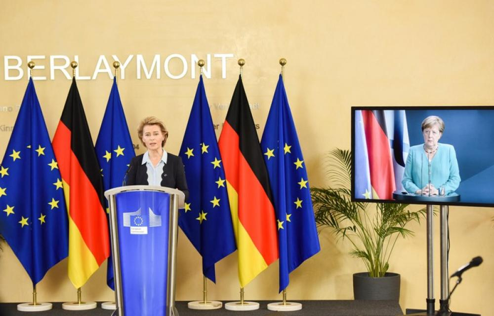 Press conference at Brussels in Belgium