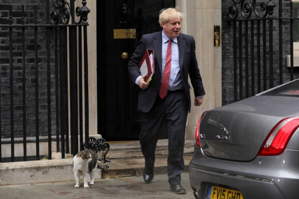 Boris Johnson at House of Commons in London