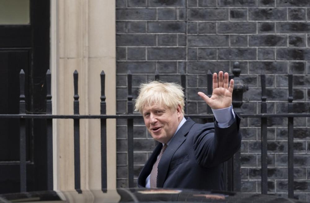 British PM Boris Johnson in London