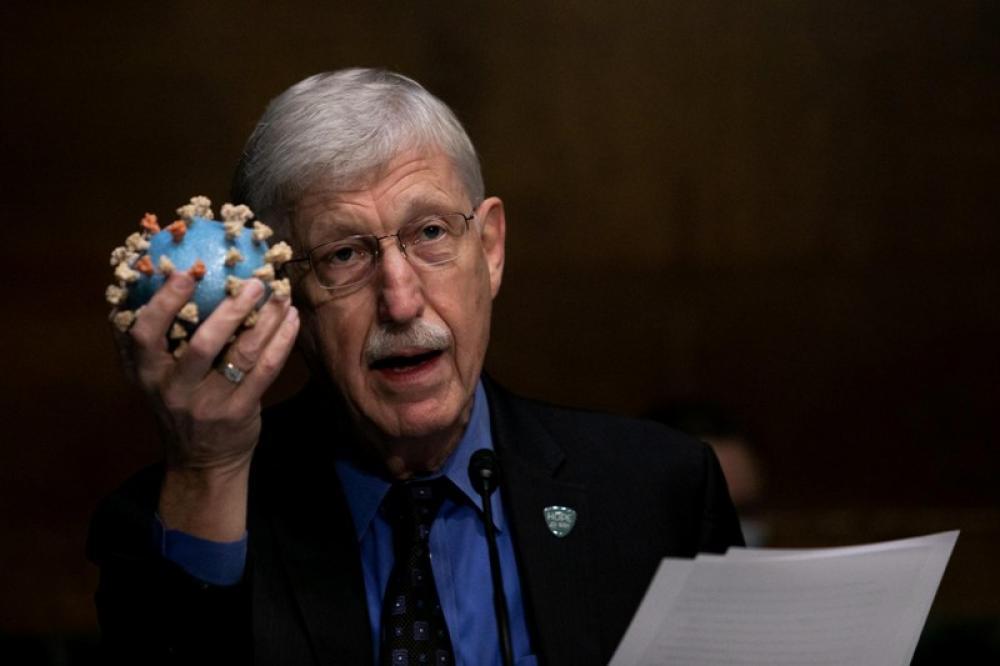 U.S. National Institutes of Health director testifies during a hearing of U.S. Senate Subcommittee