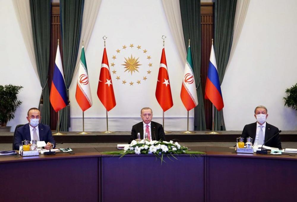 Turkish President Recep Tayyip Erdogan during press conference