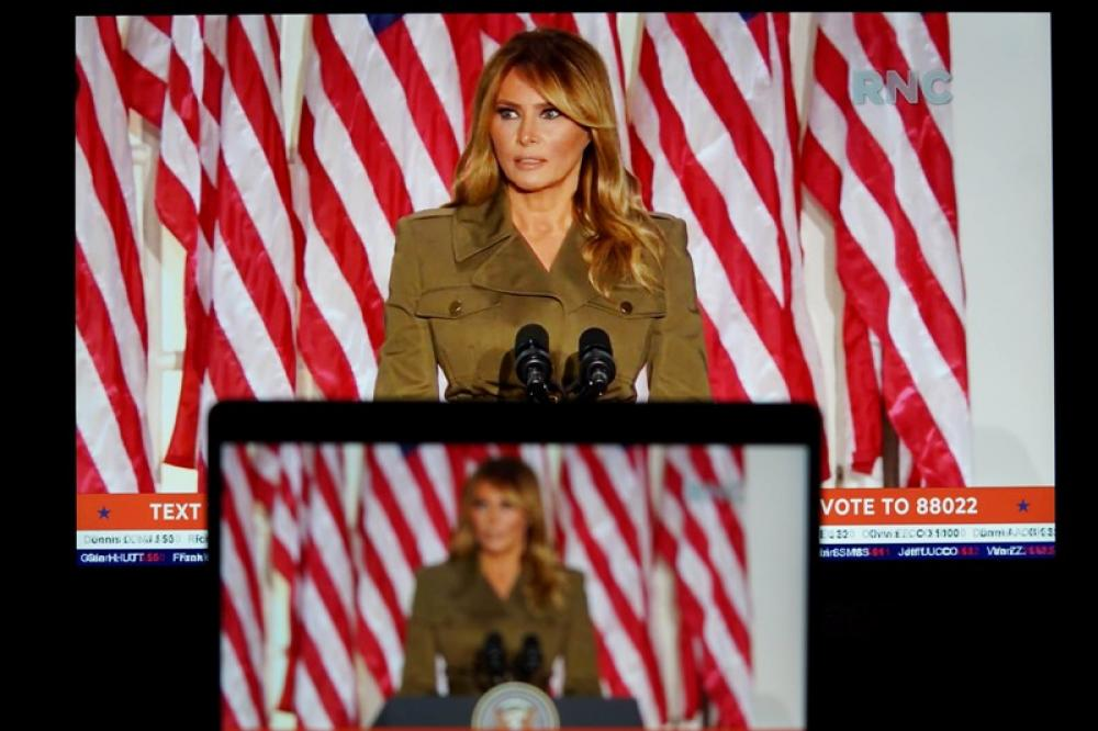 US First Lady Melania Trump speaks at 2020 Republican National Convention
