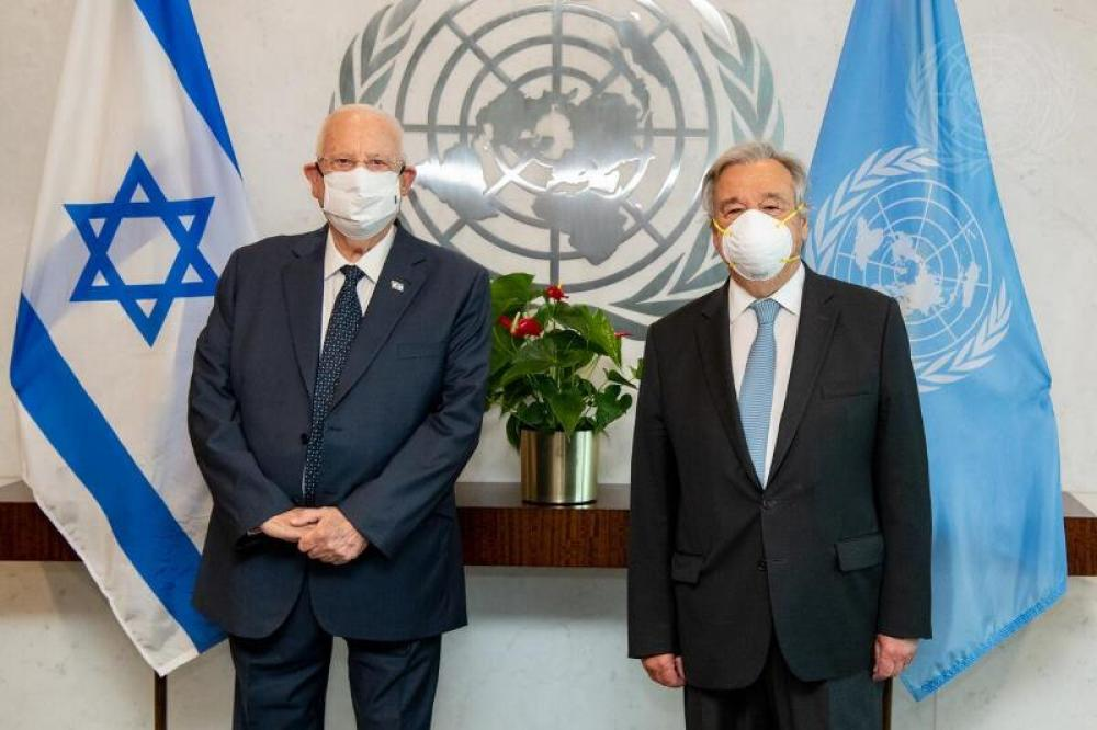 Secretary-General Meets with President of Israel
