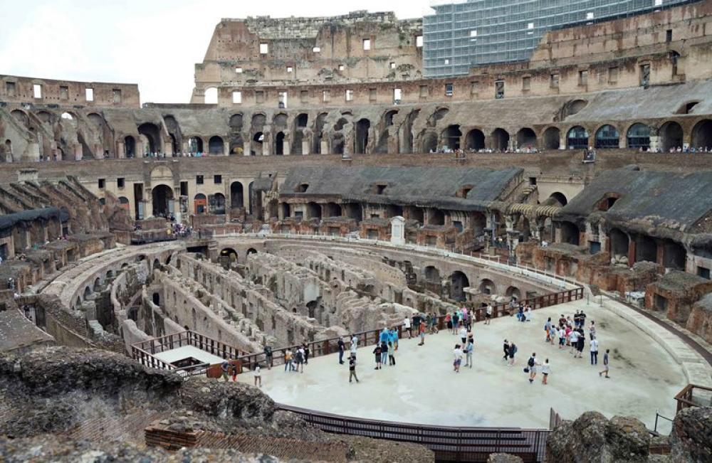 Tourists visit Rome