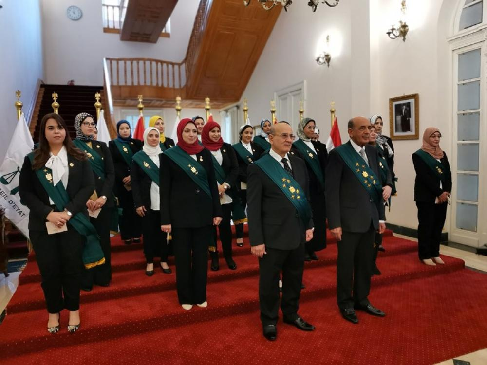 Female judges attend swearing-in ceremony in Egypt