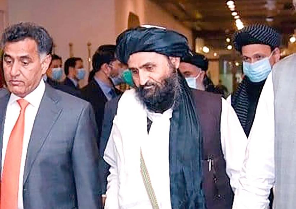 Pakistan ISI chief Lt Gen Faiz Hamid with Taliban leader Abdul Ghani in Kabul