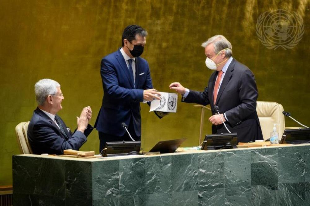General Assembly Elects President of 76th Session of General Assembly