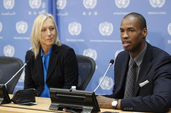 UN: Navratilova, Collins decry homophobic violence