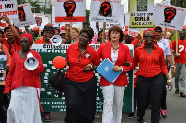 Abducted Nigerian schoolgirls not forgotten, UN chief declares as worldwide vigils begin