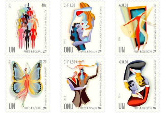New stamps promoting LGBT equality worldwide unveiled at UN