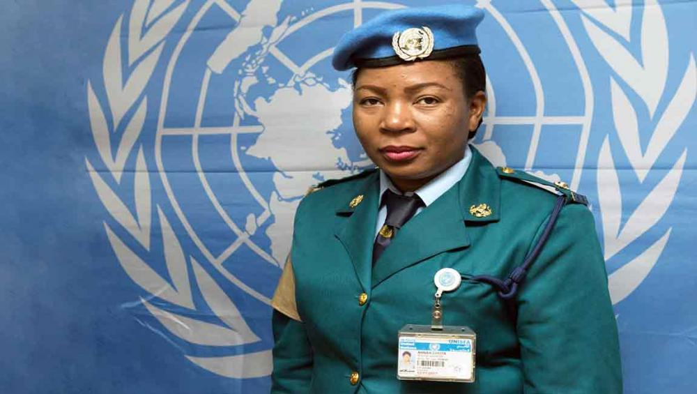 FEATURE: A woman's strength is unlimited, says award-winning UN peacekeeper