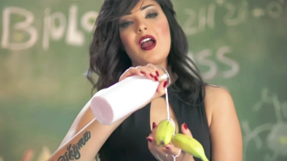 Egyptian female singer jailed for music video with banana act