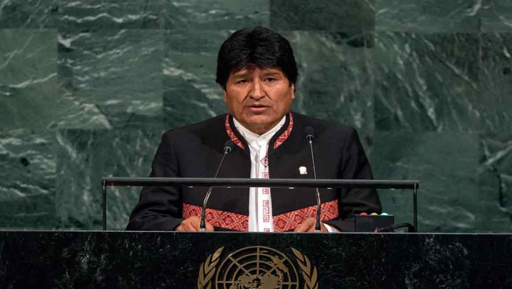 Bolivia's Morales, at UN, says natural resources, basic necessities must be viewed as human rights
