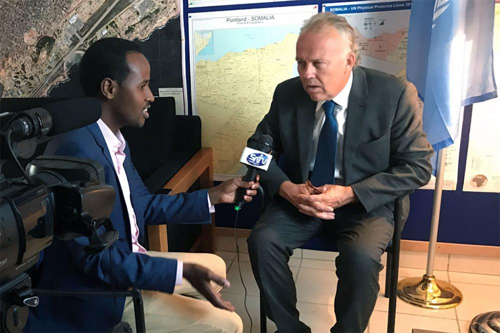Top UN envoy to Somalia welcomes parliamentary review of media law