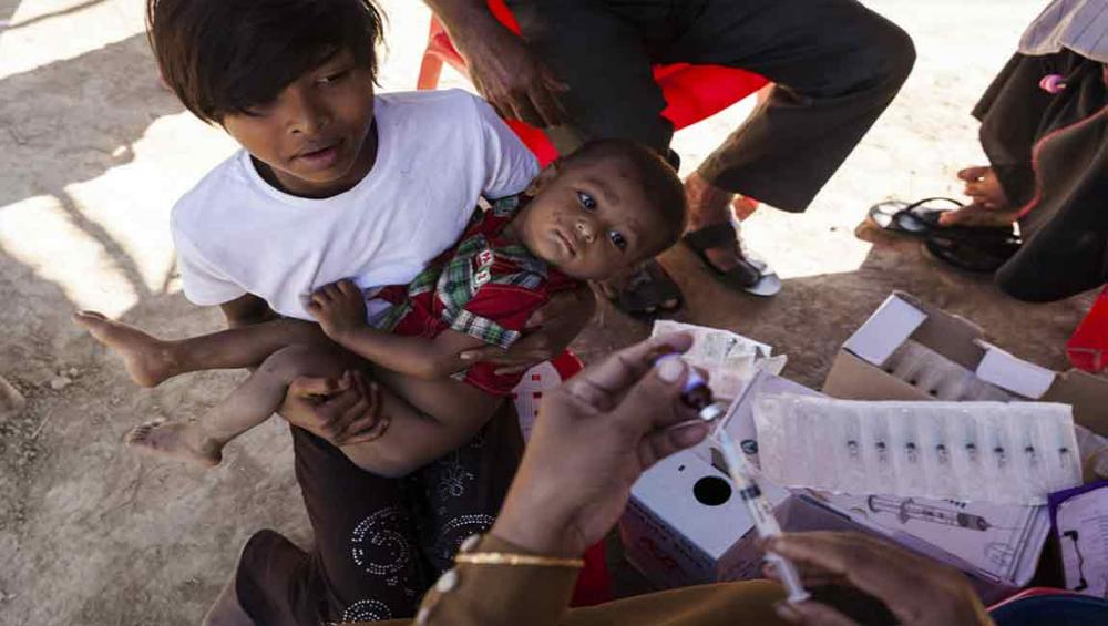 UN stepping up support to diphtheria vaccination campaign for Rohingya children in Bangladesh
