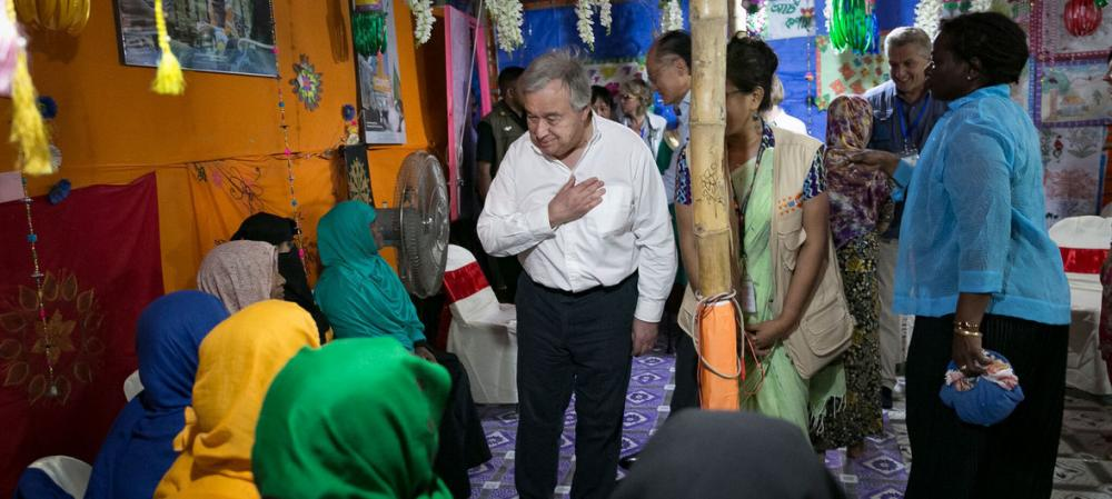 UN chief hears 'heartbreaking accounts' of suffering from Rohingya refugees in Bangladesh; urges international community to 'step up support'
