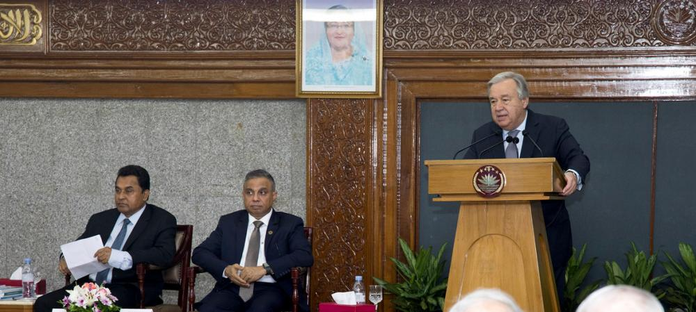 UN chief applauds Bangladesh for 'opening borders' to Rohingya refugees in need
