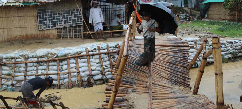 Rohingya refugee shelters 'washed away' in Bangladesh monsoon rains: UN agency
