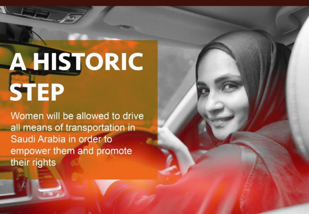 Saudi Arabia's driving ban lifted, women drive on streets
