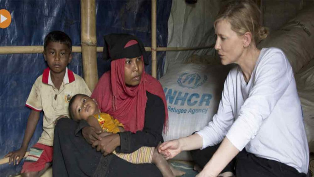 UN agency envoy Cate Blanchett warns of 'race against time' as Rohingya refugee camps brace for monsoon rains